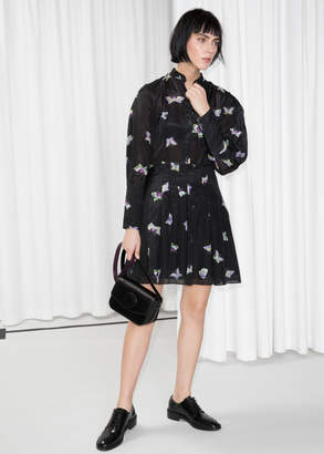 And other stories Printed Silk Blend Dress