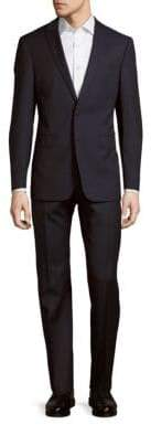 Calvin Klein Soft Pinstriped Two-Piece Wool Suit