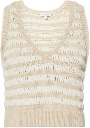 Intermix Heidi Crochet White Knit Tank