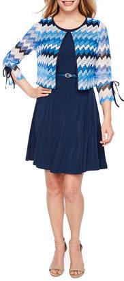 R & K Originals Sleeveless Jacket Dress-Petite