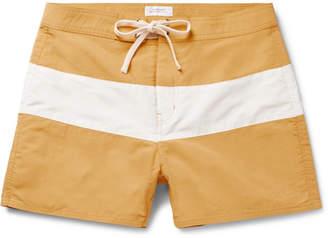 Saturdays NYC Grant Short-Length Striped Swim Shorts
