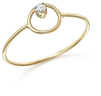 Chicco Zoë 14K Yellow Gold Paris Small Circle Diamond Ring