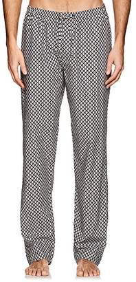 Zimmerli Men's Diamond-Print Cotton Poplin Pajama Pants