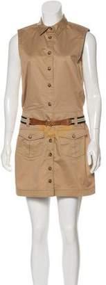 Dolce & Gabbana Collared Sleeveless Mini Dress