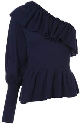 Ulla Johnson cashmere one shoulder sweater