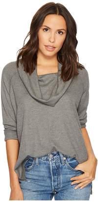 BB Dakota Paola Waffle Knit Cowl Neck Top Women's Clothing