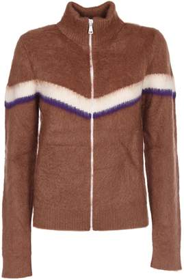 N°21 N.21 Striped Zipped Sweater