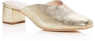 Loeffler Randall Women's Lulu Leather Block Heel Mules