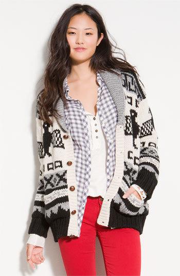 Islington Oversized Shawl Collar Andean Cardigan
