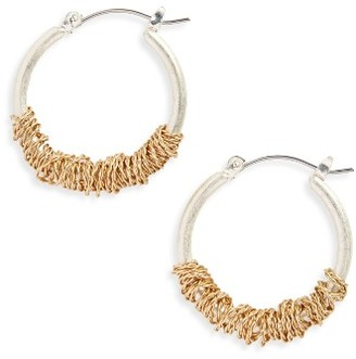 Women's Canvas Jewelry Wrapped Hoop Earrings $18 thestylecure.com