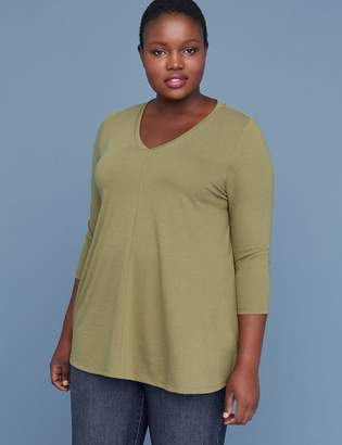 Lane Bryant 3/4 Sleeve Swing Tee