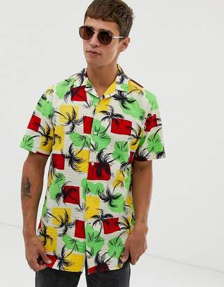 64f122d8 Tommy Hilfiger short sleeve shirt palm tree print in green