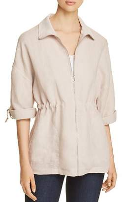 Three Dots Linen Drawstring Jacket