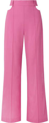 Michael Lo Sordo Cutout Wool Wide-leg Pants - Pink