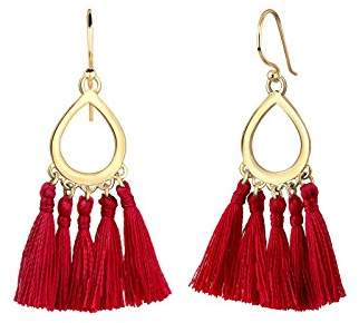Elli Women's 925 Silver Gold Plated Basic Blogger Drop Ornament Earring