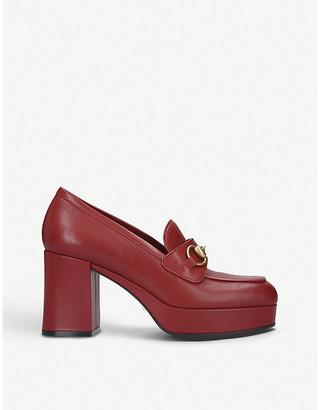 Gucci Houdan leather platform loafers