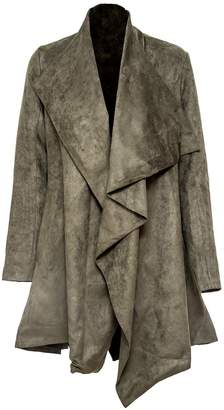 Vhny Drape-Front Suede Jacket