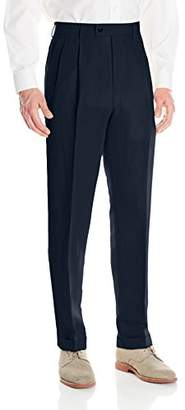 Louis Raphael Men's Linen Blend Pleated Straight Fit Dress Pant
