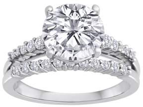 Swarovski Pure Perfection Certified Bridal Pure Perfection Certified Bridal Ring with Brilliant Center Stone Made with Zirconia