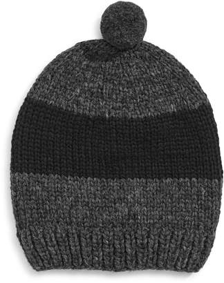 HBC Stripes Hand Knit Pom Wool Tuque