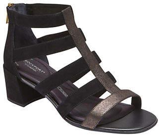 Rockport Total Motion Caged Suede Sandals