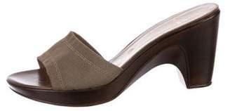 Stuart Weitzman Woven Slide Sandals