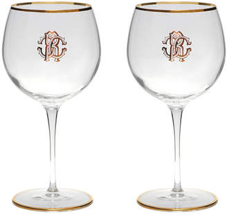 Roberto Cavalli Monogram Large Wine Glasses