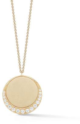 Susan Foster Yellow Gold Moon Charm Necklace