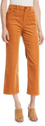 J Brand Joan High-Rise Cropped Corduroy Pants