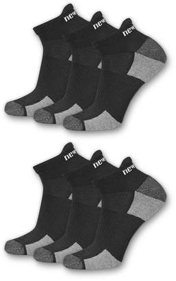 New Balance Womens 6 Pair Low Cut Socks - Extended Sizes