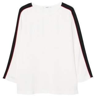 MANGO Contrast trim blouse