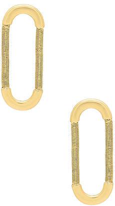 The Snake Chain Loop Studs in Metallic Gold Luv AJ Gabj0y62