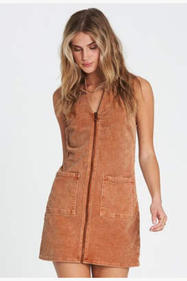 Billabong Foxy Zip Corduroy Mini Dress