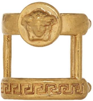 Versace Gold Single Double Ear Cuff