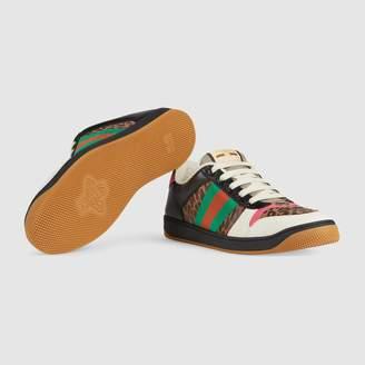 6ac0b2bc07b Gucci Online Exclusive Men's Screener leopard print sneaker