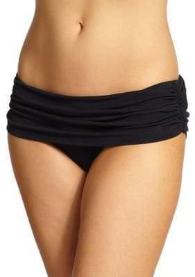 Norma Kamali Bill Ruched Super Low-Rise Bikini Bottom