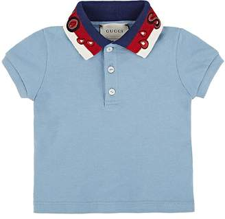 Gucci Infants' Spiritismo Cotton-Blend Piqué Polo Shirt
