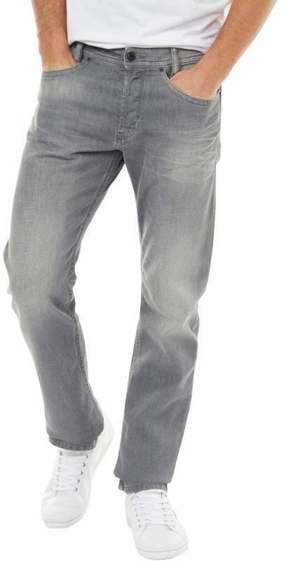 Herren Akee 0853T Jeans mit zulaufendem Bein Mittelgrau