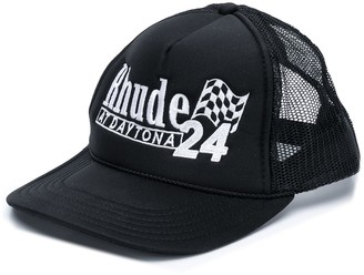 Rhude logo embroidered cap