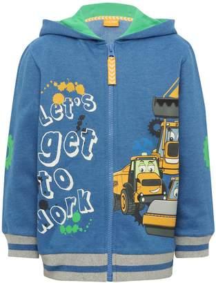 M&Co JCB hooded zip through sweater