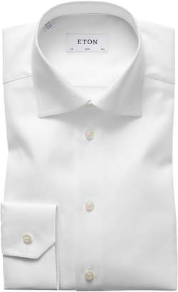Eton Slim Fit Cavalry Twill Dress Shirt