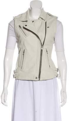 IRO Leather Zip-Up Vest