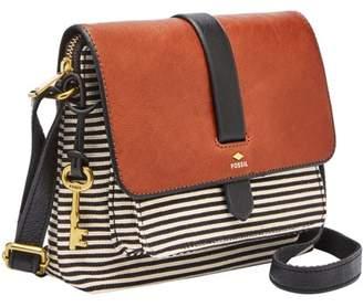 Fossil Kinley Small Crossbody Handbag Black Stripe