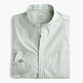 J.Crew Slim stretch Secret Wash band-collar shirt in fall stripe