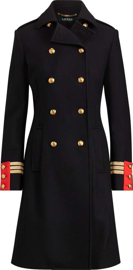 Ralph Lauren Wool-Blend Officer's Coat