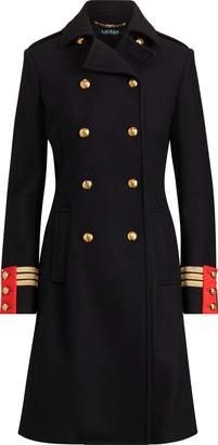 Ralph Lauren Wool-Blend Officer's Coat