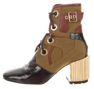 Christian Dior Canvas Embellished Booties