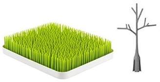 Boon Lawn Countertop Drying Rack and Twig Green + Gray