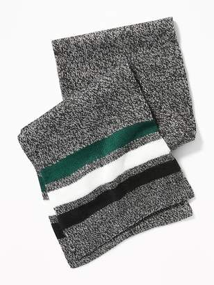 Old Navy Patterned Sweater-Knit Scarf for Men