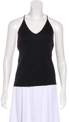 Halston Razor Back Sleeveless Top